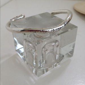 Sterling silver dog lovers bracelet